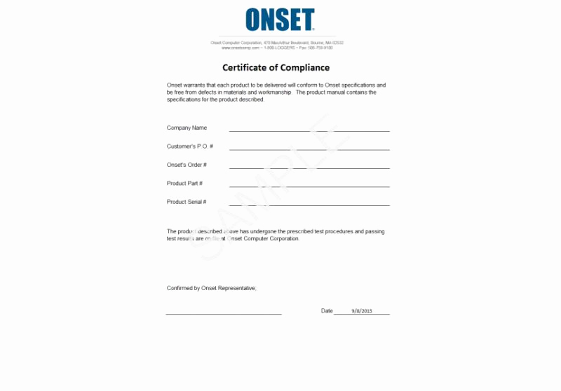 Certificate Of Compliance Template Luxury Pliance Certificate Pliance Cert