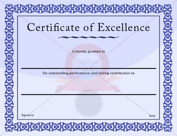 Certificate Of Excellence Template Inspirational 17 Best Images About Excellence Certificate On Pinterest