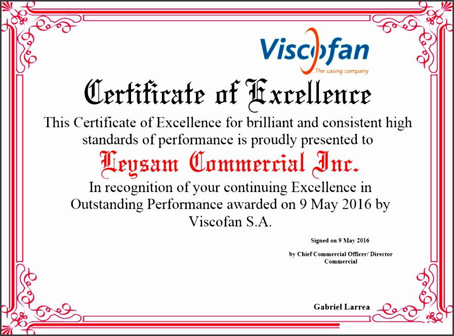 Certificate Of Excellence Template Lovely 8 Certificate Appreciation Draft Sampletemplatess