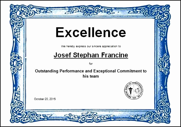 Certificate Of Excellence Template Unique 43 Stunning Certificate and Award Template Word Examples
