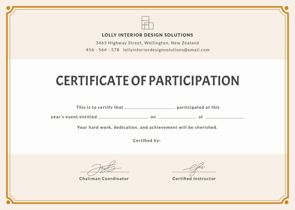 Certificate Of Participation Template Beautiful 58 Printable Certificate Templates Free Psd Ai Vector