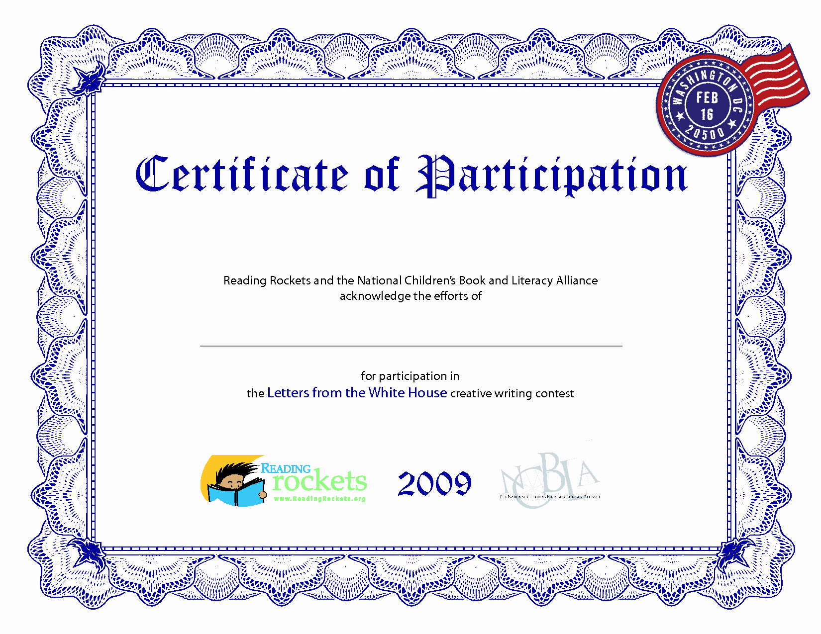 Certificate Of Participation Template Fresh Certificate Participation Template