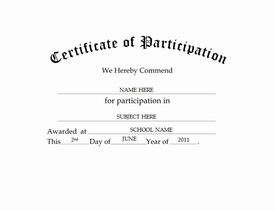 Certificate Of Participation Template Inspirational Geographics Certificates