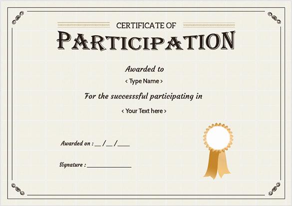 Certificate Of Participation Template Luxury Free Certificate Template – 65 Adobe Illustrator