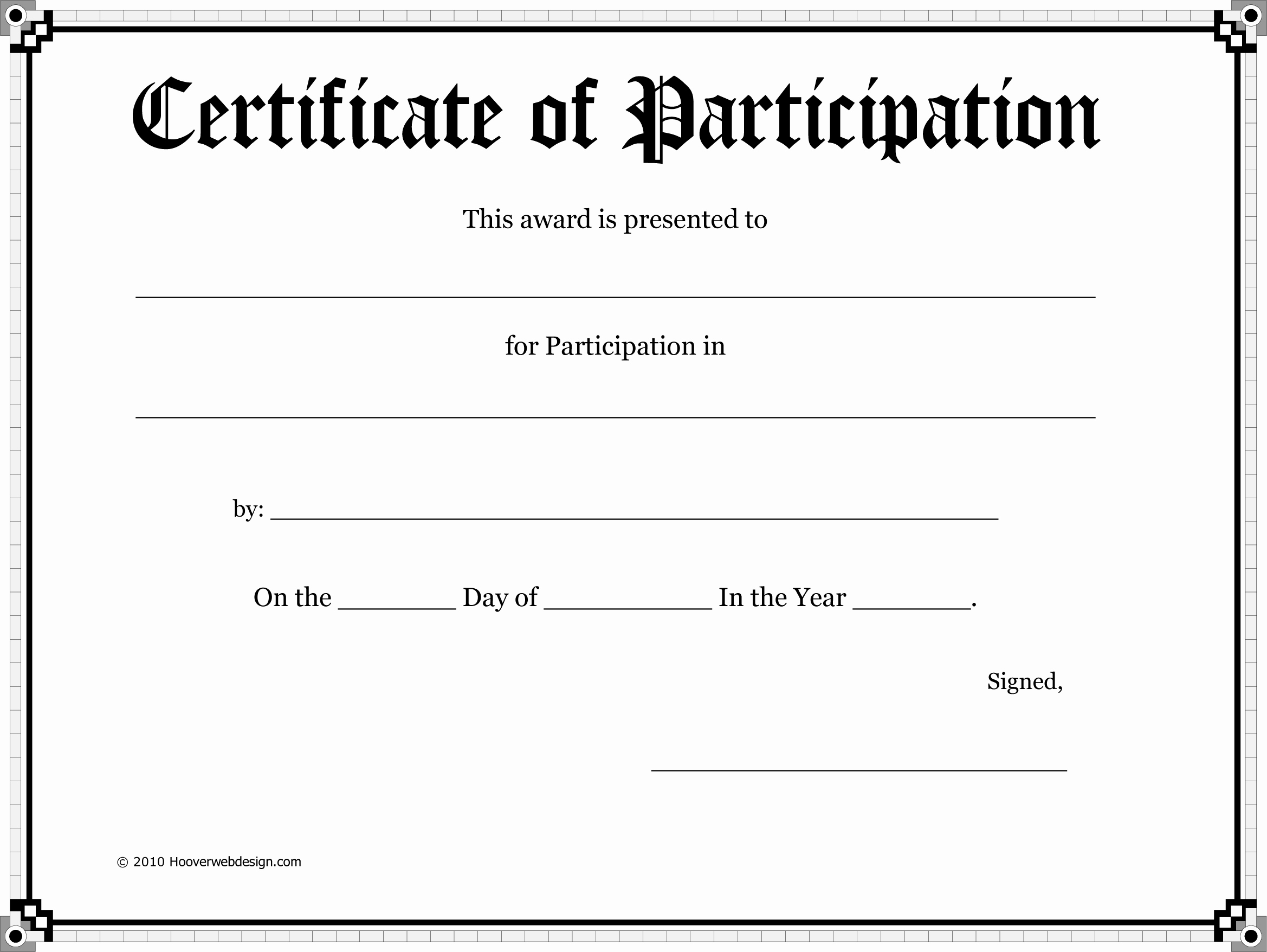 Certificate Of Participation Template New Super Fun Summer Challenge 2014 Week 6 – Her Life Inspired