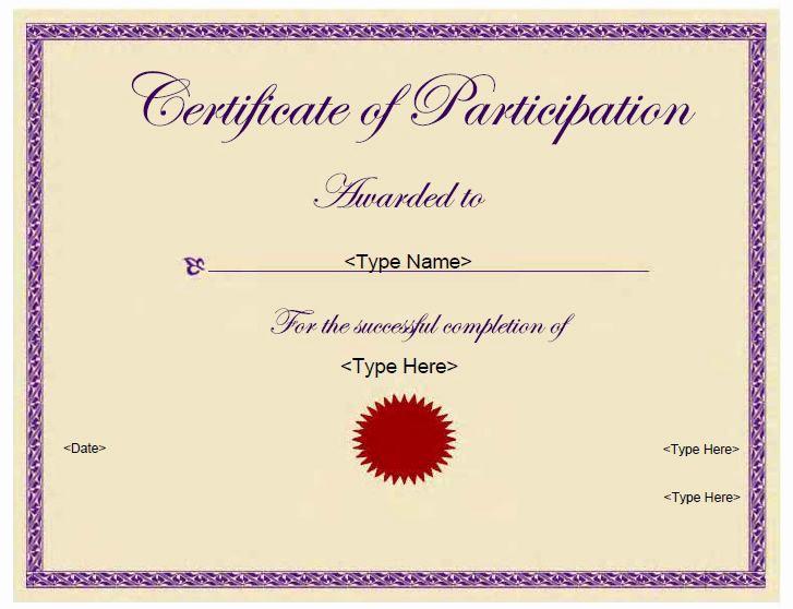 Certificate Of Participation Template Unique 74 Best Images About Education Certificates