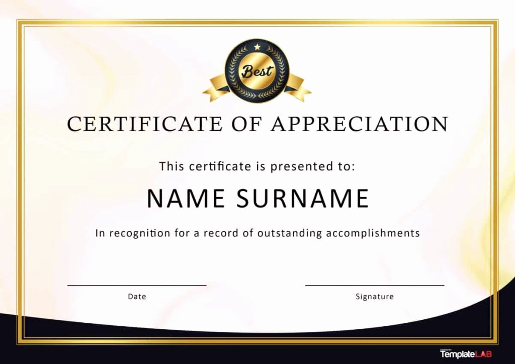 Certificate Of Recognition Template Beautiful 30 Certificate Of Appreciation Template Download