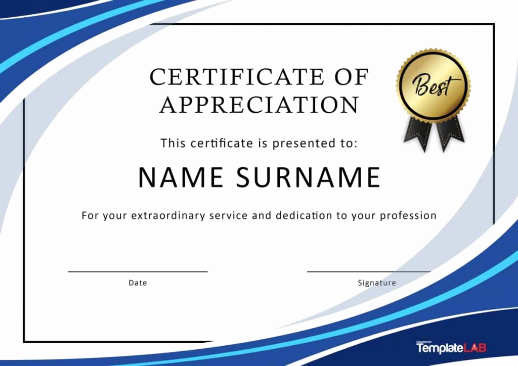 Certificate Of Recognition Template Best Of 30 Certificate Of Appreciation Template Download