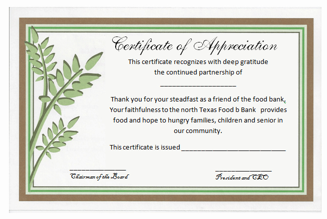Certificate Of Recognition Template Elegant Partnership Certificate Of Appreciation Template