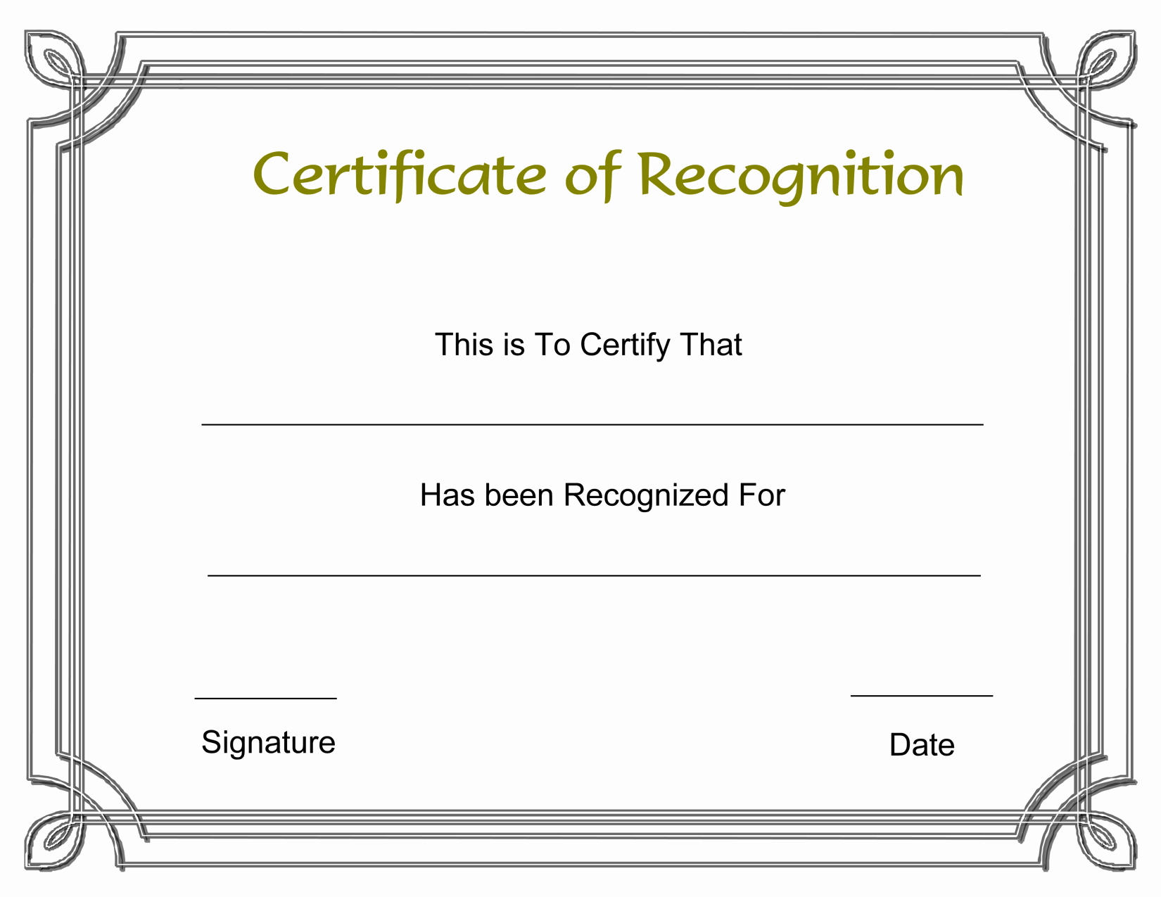 Certificate Of Recognition Template Fresh Template Free Award Certificate Templates and Employee