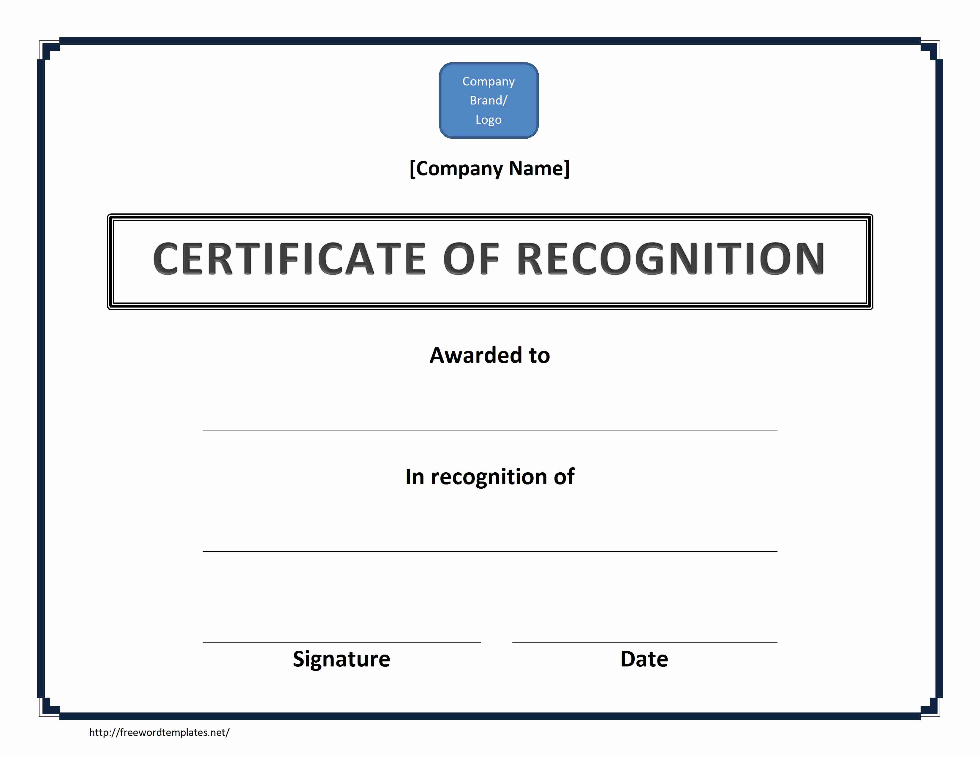 Certificate Of Recognition Template Inspirational Certificate Of Recognition