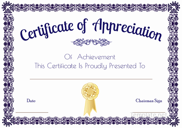 Certificate Of Recognition Template Inspirational Certificate Template – 41 Free Printable Word Excel Pdf