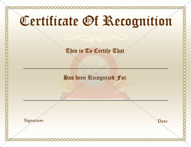 Certificate Of Recognition Template Luxury 25 Best Ideas About Certificate Of Recognition Template
