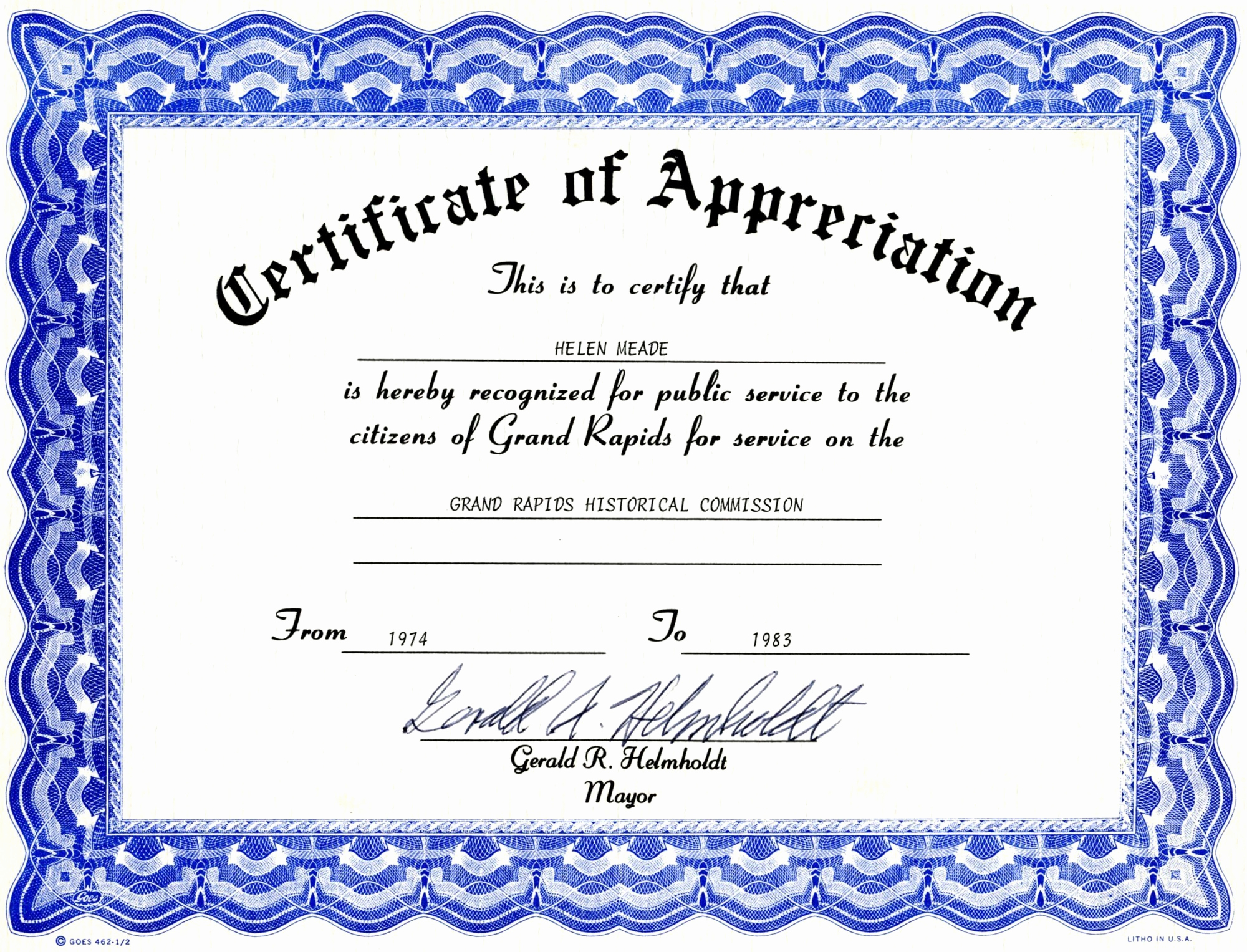 Certificate Of Recognition Template New Appreciation Certificate Templates Free Download