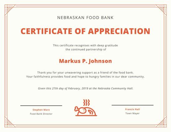 Certificate Of Recognition Template Unique Appreciation Certificate Templates Canva