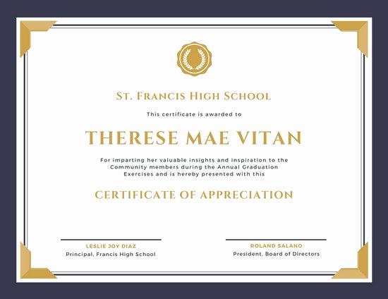 Certificate Of Recognition Template Unique Customize 89 Appreciation Certificate Templates Online