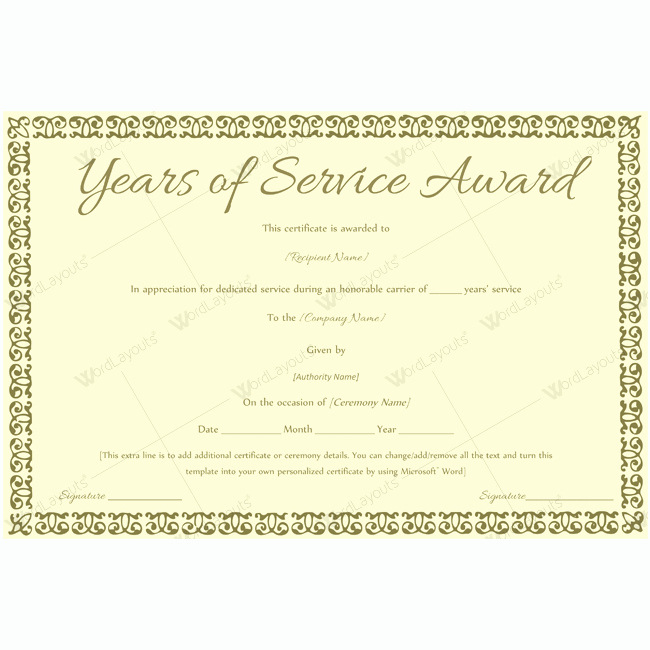 Certificate Of Service Template Awesome 89 Elegant Award Certificates for Business and School events