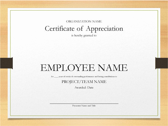 Certificate Of Service Template Elegant Years Of Service Certificate Example – Open Fice format