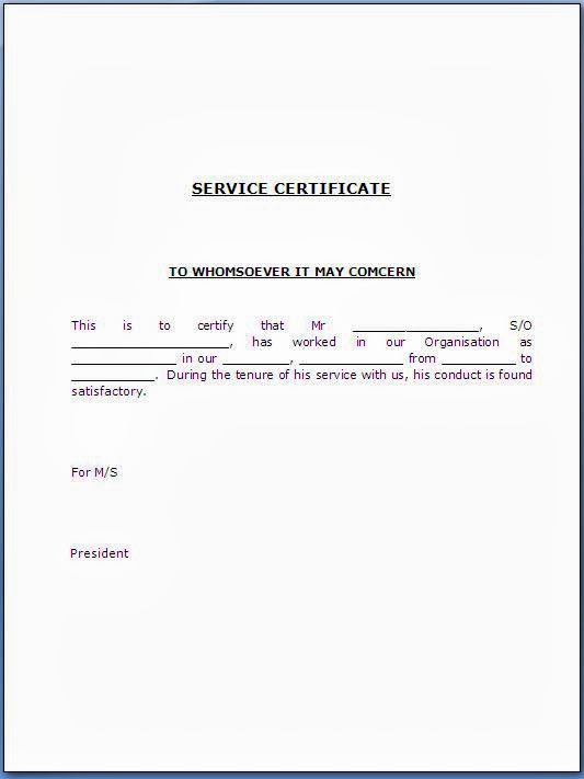 Certificate Of Service Template Luxury Service Certificate Template for Employees