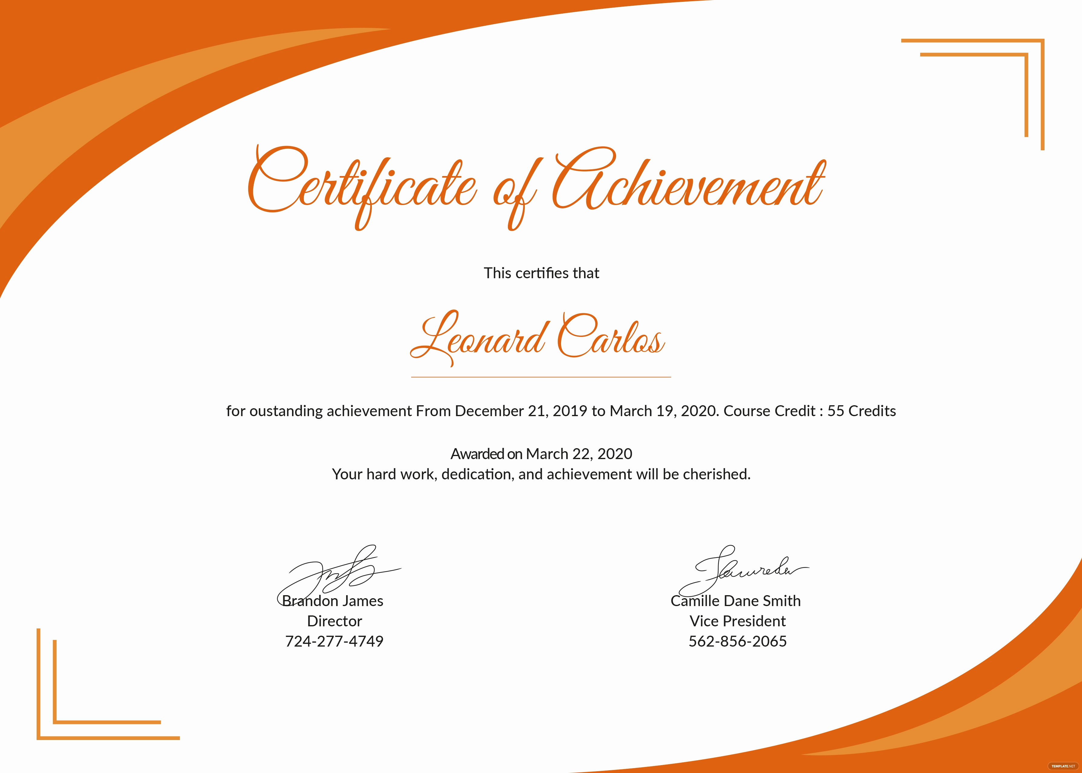 Certificate Templates for Word Awesome Free Certificate Of Achievement Template In Psd Ms Word