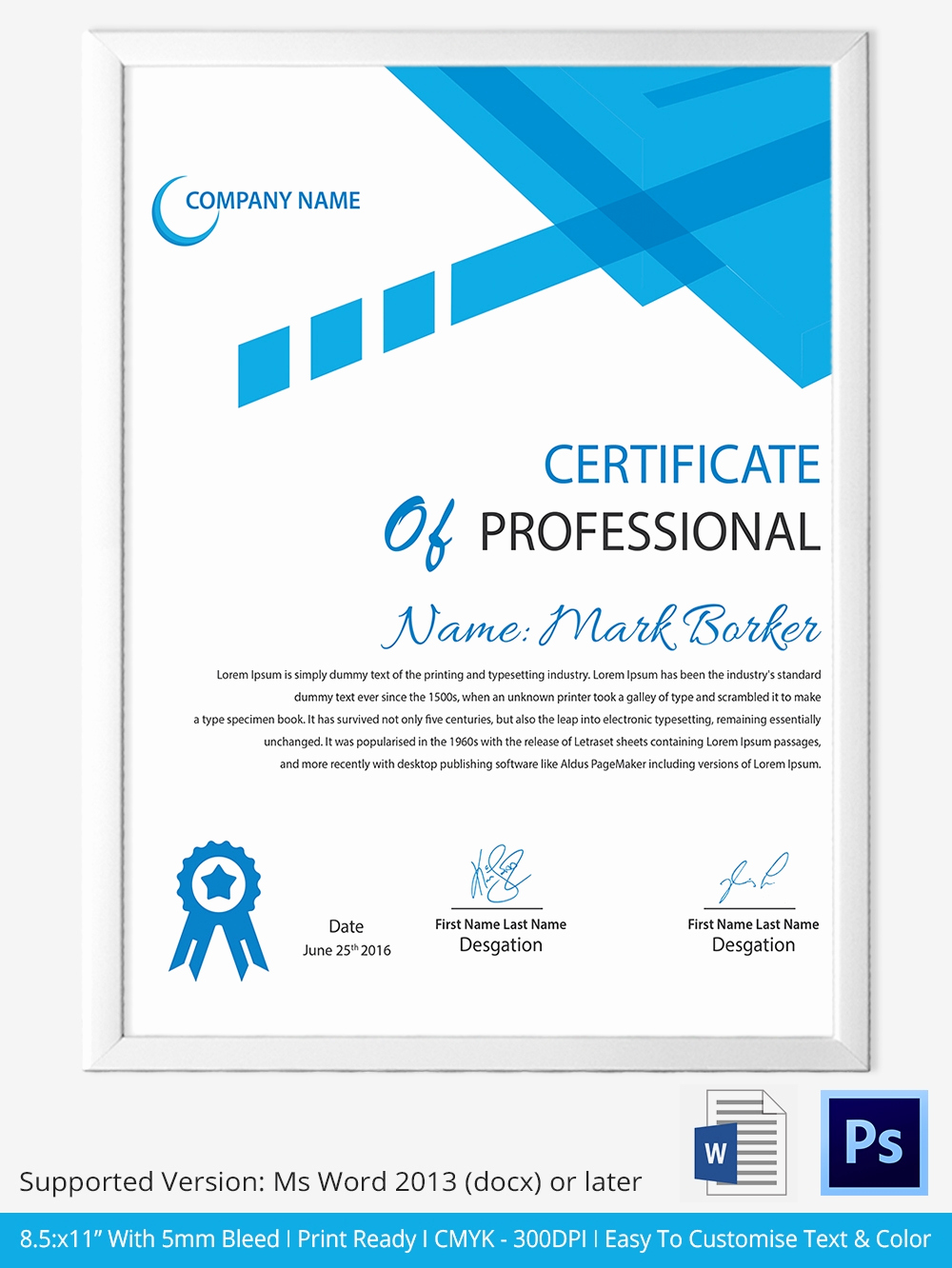 Certificate Templates for Word Fresh 33 Psd Certificate Templates – Free Psd format Download