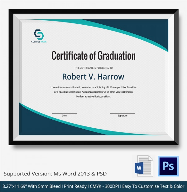 Certificate Templates for Word Inspirational 20 Graduation Certificates
