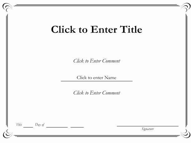 Certificate Templates for Word Inspirational Blank Certificates