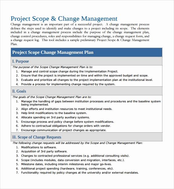 Change Management Plan Template Luxury Sample Change Management Plan Template 13 Free