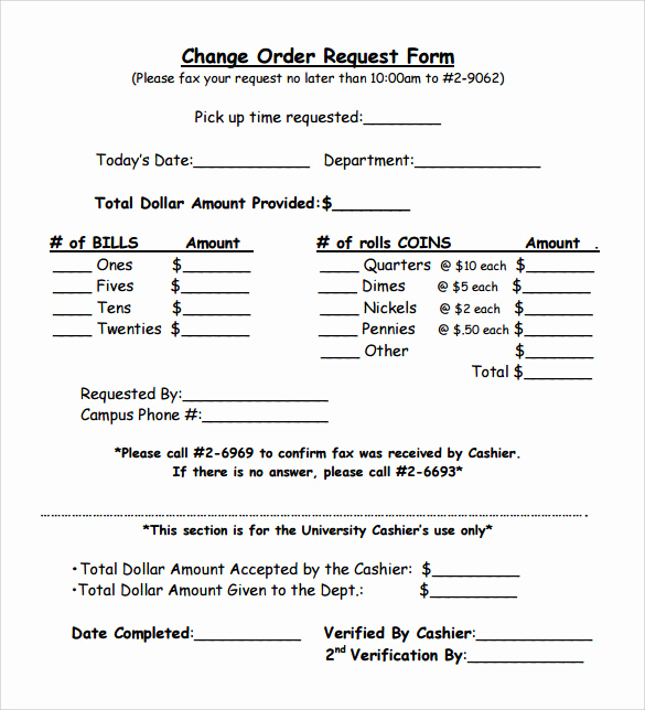 Change order form Template Awesome 11 Change order Samples