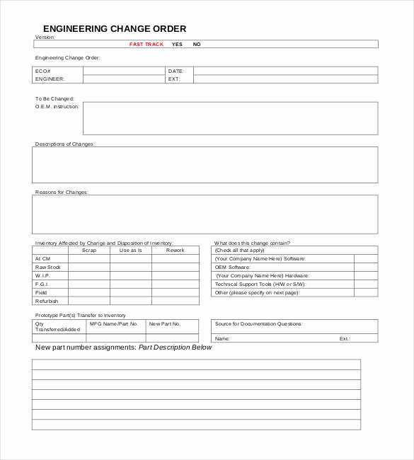 Change order form Template Best Of 24 Change order Templates Pdf Doc