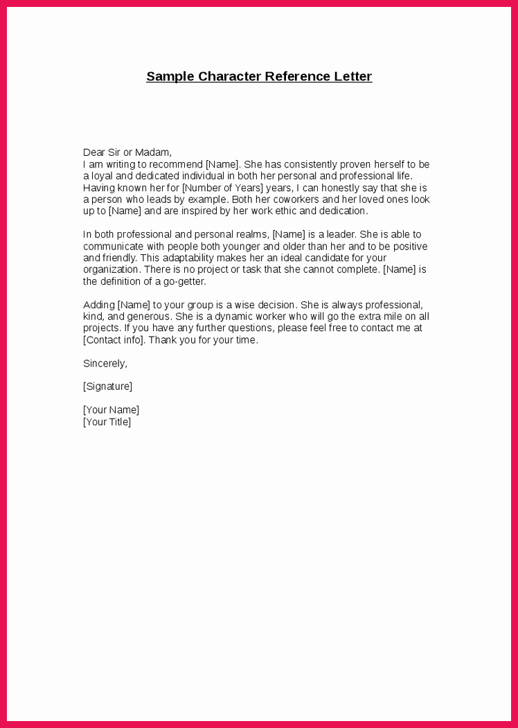 Character Reference Letter for Immigration Fresh Good Moral Character Letter
