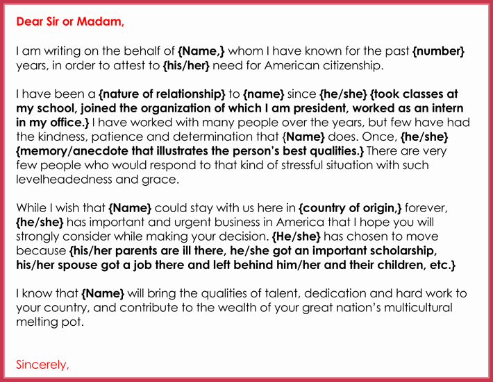 Character Reference Letter for Immigration Inspirational Immigration Reference Letters 7 Samples formats and