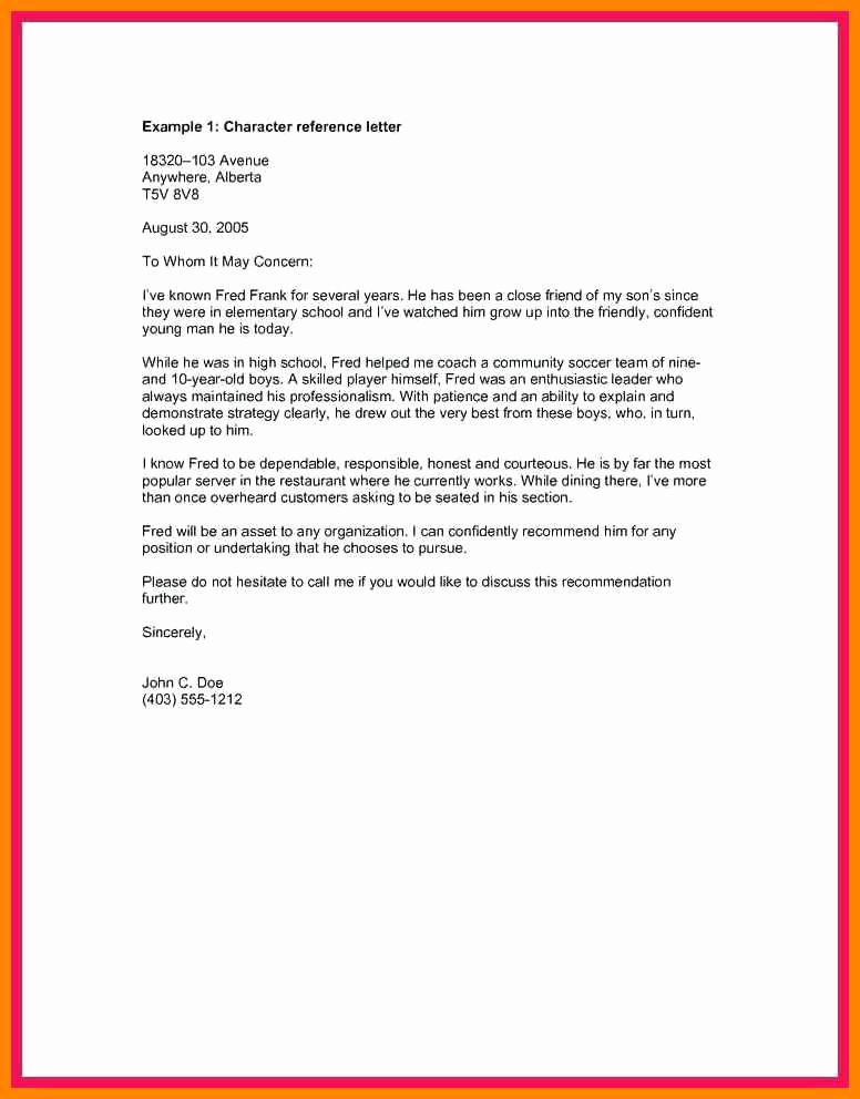 Character Reference Letter for Immigration Luxury 5 Good Moral Character Letter for Immigration