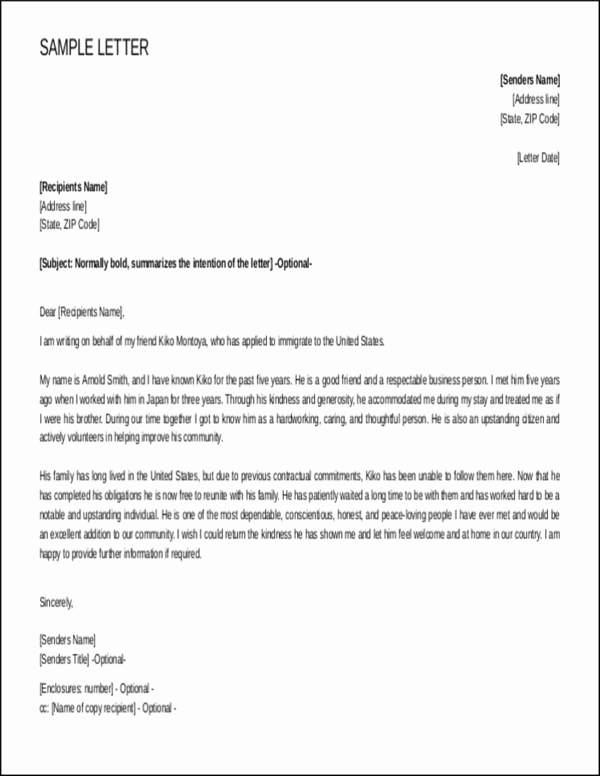 Character Reference Letter for Immigration New Steps to Writing A Reference Letter for Immigration