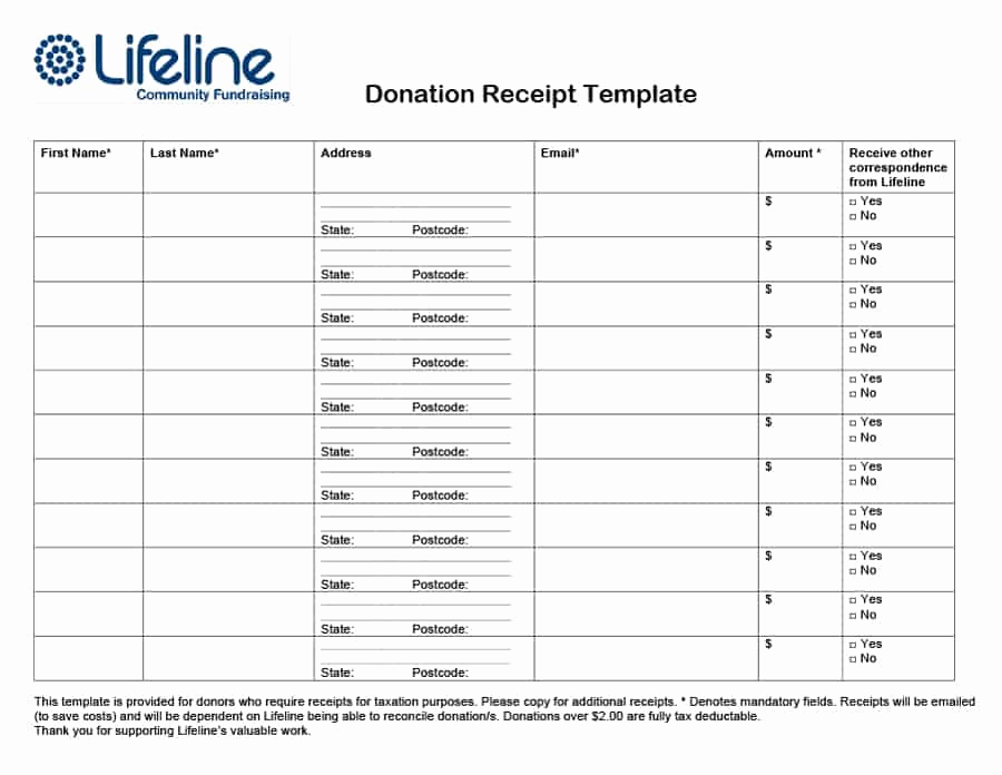 Charitable Donation Receipt Template Best Of 40 Donation Receipt Templates & Letters [goodwill Non Profit]
