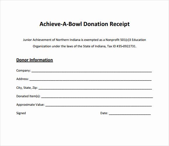 Charitable Donation Receipt Template Elegant Charitable Donation form Template