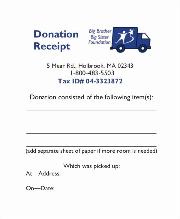 Charitable Donation Receipt Template Inspirational 15 Receipt Templates