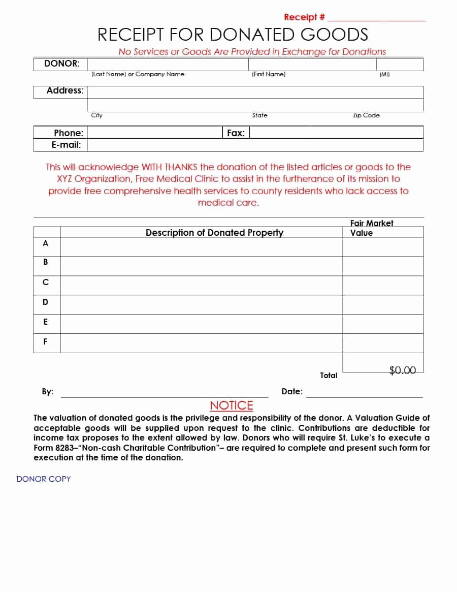 Charitable Donation Receipt Template Inspirational 40 Donation Receipt Templates & Letters [goodwill Non Profit]