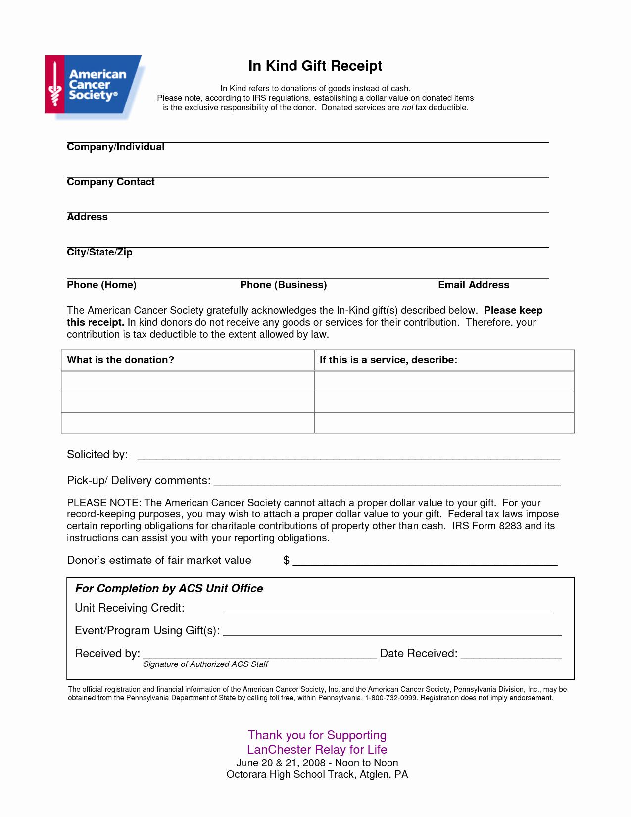 Charitable Donation Receipt Template Inspirational Non Profit Receipt Of Cash Donation Letter Template