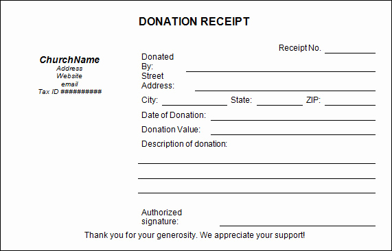 Charitable Donation Receipt Template Lovely 20 Donation Receipt Templates Pdf Word Excel Pages