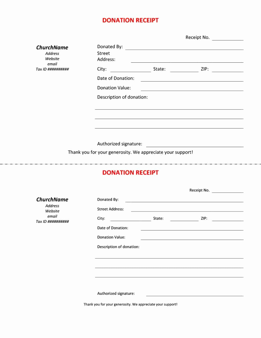 Charitable Donation Receipt Template New 40 Donation Receipt Templates & Letters [goodwill Non Profit]