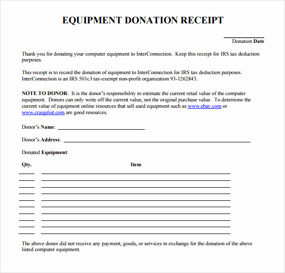 Charitable Donation Receipt Template Unique 20 Donation Receipt Templates Pdf Word Excel Pages