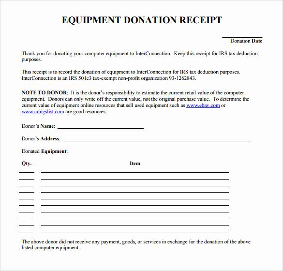 Charitable Donation Receipt Template Unique 20 Donation Receipt Templates Pdf Word Excel Pages