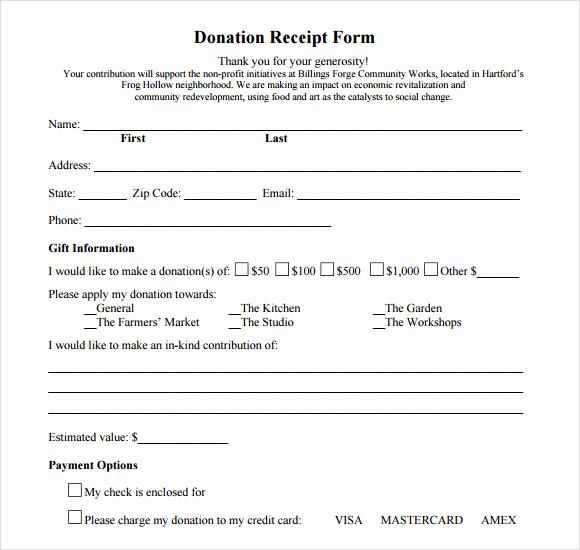 Charitable Donation Receipt Template Unique 9 Donation Receipt Templates Free Samples Examples format