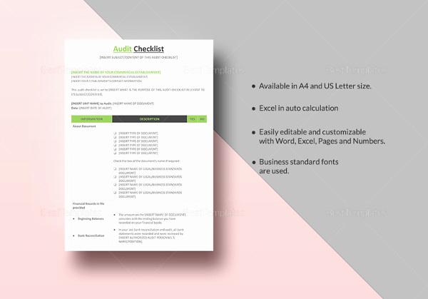 Checklist Template Google Docs Elegant 34 Word Checklist Templates