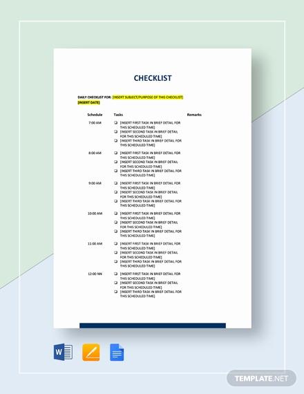 Checklist Template Google Docs Elegant Checklist Sample Template Download 130 Checklists In