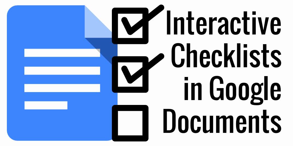 Checklist Template Google Docs Lovely Control Alt Achieve Interactive Checklists In Google Docs