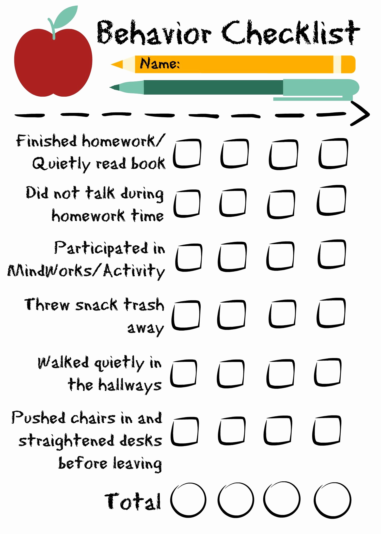 Child Behavior Checklist Pdf Elegant Preschool Behavior Checklist