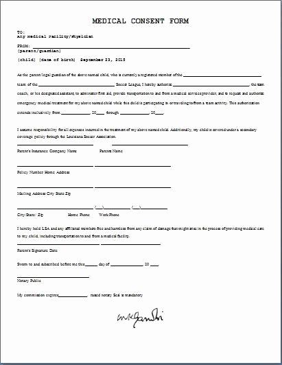 Child Medical Consent form Pdf Best Of Medical Consent form Daily Medical forms