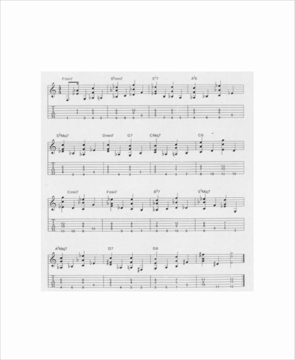 Chord Chart Guitar Complete Luxury 6 Plete Guitar Chord Charts Free Sample Example